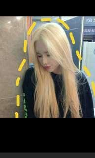 (No instocks!)Peorder korean centre parting natural straight hair wig * waiting time 15 days after payment is made *chat to buy to order
