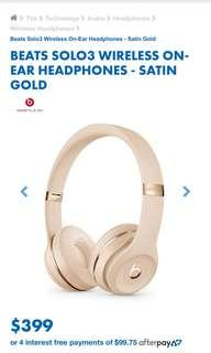 Beats Solo3 in Satin Gold
