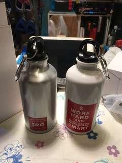 全新小型便携水樽(2個)
