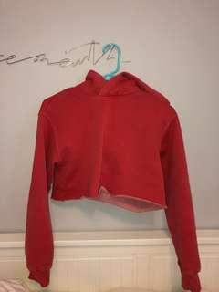 NEW TNA Red Cropped Hoodie