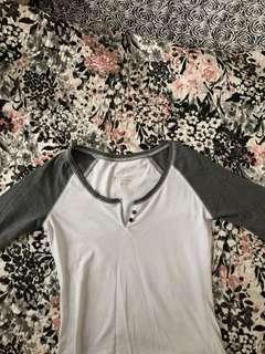 White & Grey Button Shirt
