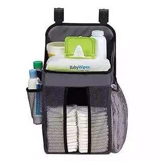 Baby Diaper Storage Organizer Hanger With Hook Nursery Diaper Storage Organiser Wipe Bottle Pampers Storage Cradle Bag