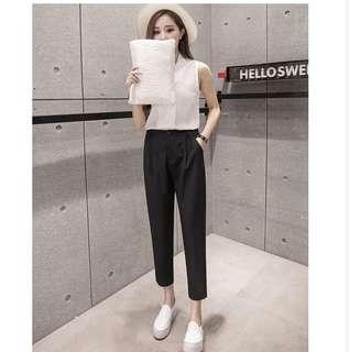 Korean brand black pants
