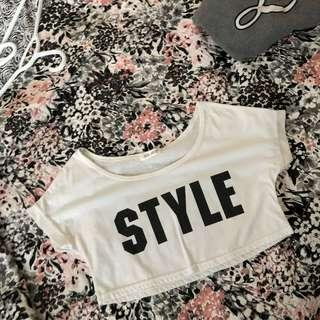 Style White Cropped Tee