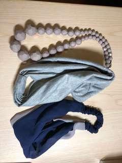 韓日頭巾及頸鍊