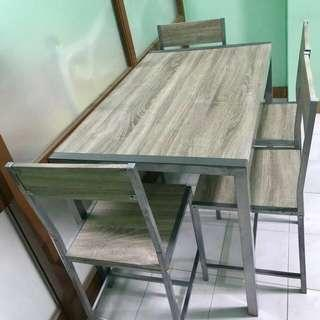 SALE! Gray 4 Seater Dining Set