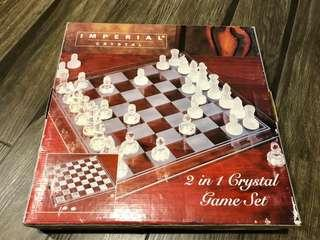 Imperial 2-in-1 Crystal Chess Set
