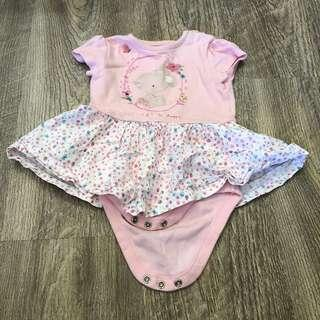 Mothercare floral bear romper