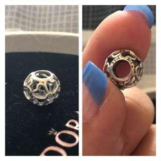 Pandora Flower Heart Charm