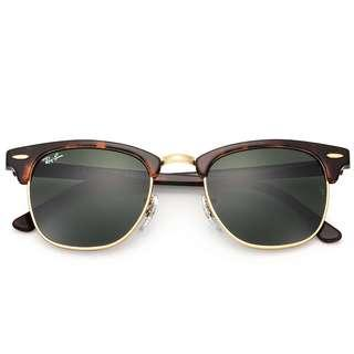 WOMEN'S RAY-BAN CLUBMASTER SUNGLASSES **BRAND NEW**