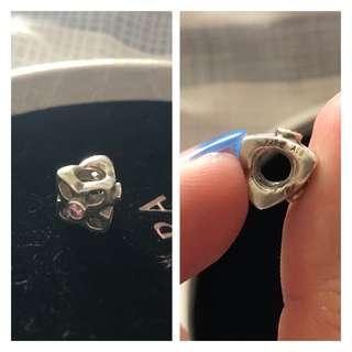 Pandora Pink Stone Charm