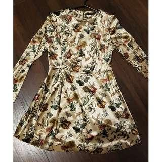 BEAUTIFUL ZARA WOMEN'S FLORAL VELVET DRESS *MEDIUM*