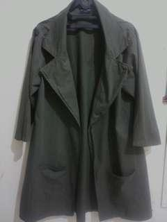 Preloved BERRYBENKA LABEL Carello Long Coat Green