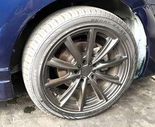 """Toyota wish 17"""" RIM w/ 2018 tyres"""