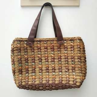 ﹝新淨﹞Miss and She Company草織袋 Weaven shoulder bag