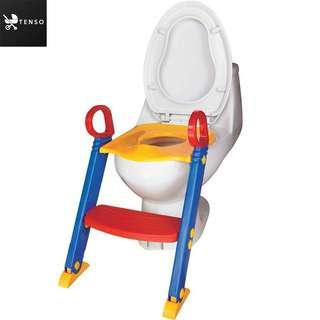 Children toddler toilet trainer training potty seat with ladder