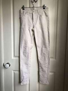 MANGO straight fit jeans (cream) size EU36