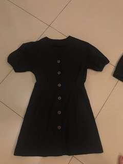 Puffy sleeves vintage dress