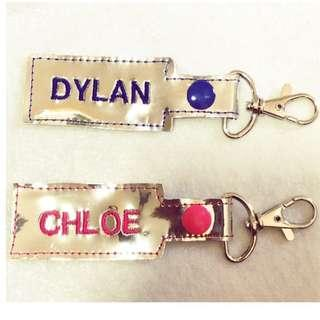 Vinyl keychains with customise personalise names / good for farewell gift, children day teacher day christmas all occasions birthday goody bag