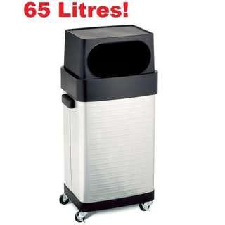 🔥[FLASH SALE!]🔥Metal Trash Bin Dust Bin Stainless Steel 65L Commercial Kitchen Garage Seville Classics™ USA [32% DISC]