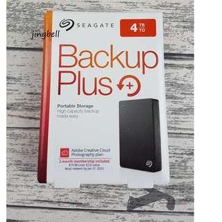Seagate 4TB Backup Plus Portable Drive USB3.0 (Black)