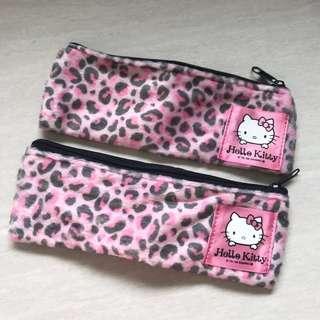 🚚 BN Small Hello Kitty Leopard Prints Pencil Case Holder