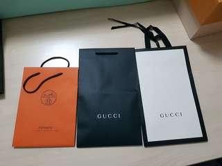 67aab59b311 AUTHENTIC GUCCI HERMES YSL SAINT LAURENT SAKS FIFTH AVENUE PAPER BAG  PACKAGING ONLY