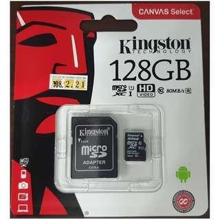 🚚 售全新Kingston金士頓 128GB 80MB/s MicroSDHC UHS-I Class10 記憶卡公司貨保固 歡迎面交自取