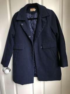 Winter Navy Coat A line size M (fits AU 8)
