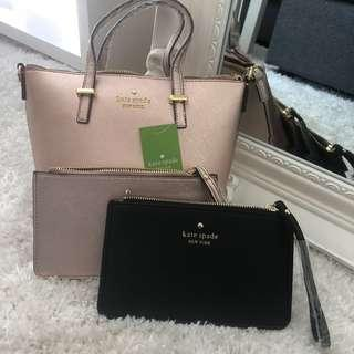Kate Spade ♠️ Handbag And Wristlets