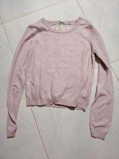 🚚 Miss Selfridge baby Pink crochet Pullover