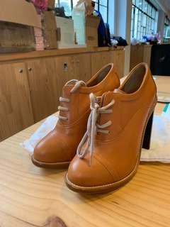 Chloe leather booties boots
