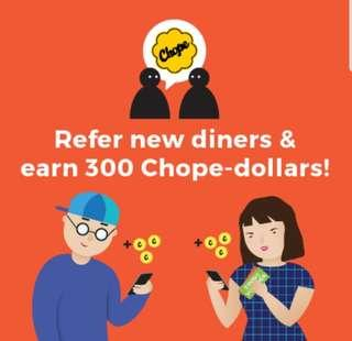 Free $10 Chope Voucher / Promo Code / Referral Code