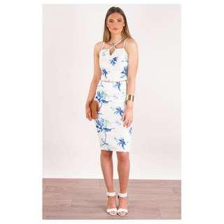 FLORAL MIDI SKIRT - SIZES 6-14 AVAILABLE