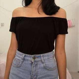 Terranova Black Off Shoulder Top