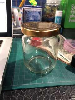 🚚 Round Jar 250ml with Cap