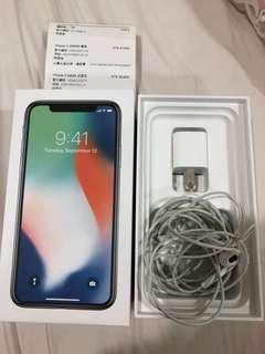 🚚 9成新 I phone x 256g 銀 保固到2019.4.16 有購證