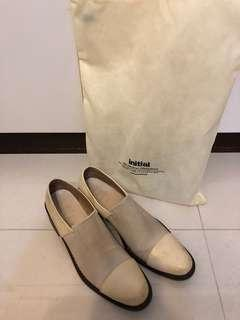 Initial loafers shoes 刷色 復古 皮鞋