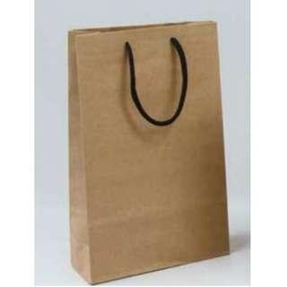 🚚 現貨 博美 大2K 牛皮無印 直式手提紙袋 購物袋 黑棉繩無底板 3-2310205