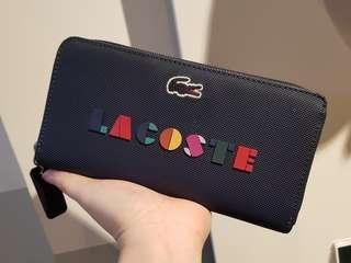 885fd8e7f02e 115 ONLY. Lacoste Peacoat Color Block Long Zip Wallet