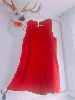 Zara大紅色裙褲