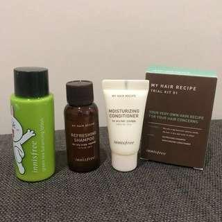 💯 [Innisfree] All ~ Shampoo, Conditioner & Body Lotion Travel Kits #FEBP55