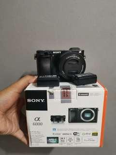Sony A6000 Complete With Kits Lens (Black)