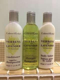 Crabtree & Evelyn Travel Kit 旅行套裝 Shampoo Conditioner Shower gel Body lotion