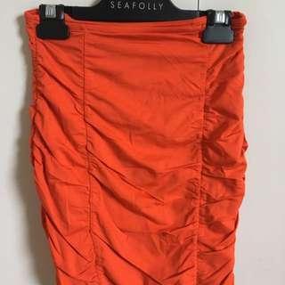 Kookai Mini Skirt Orange Size 1