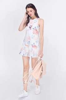 bnwt fayth jardin floral dropwaist babydoll dress // similar to love bonito lb ssd something borrowed mds carrislabelle dressabelle mgplabel ohvola hvv tem zara