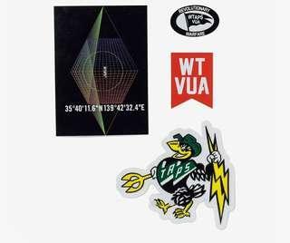 🚚 Wtaps Stick Pack / PVC Stickers