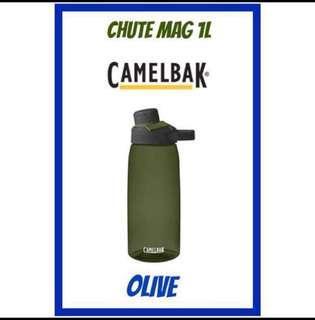 💦2019💦 NEW DESIGN CamelBak CHUTE MAG ® 1L Water Bottle <OLIVE>