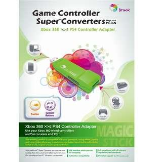 SG Seller Brook Design - P4-GN Game Controller Super Converters Xbox 360 to PS4