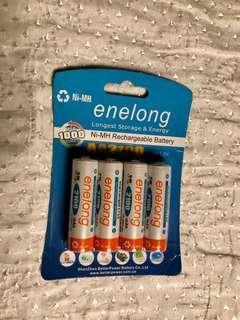 🚚 enelong 2100mah3號4顆電池